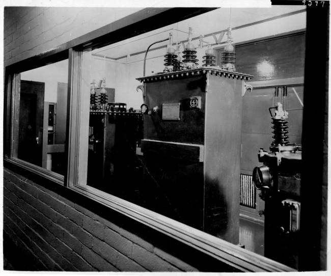Mystery AM transmitter site, transformer vault.  Plate 9297