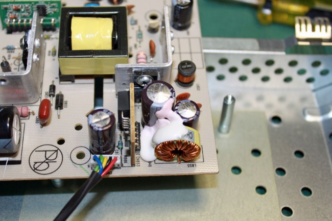 LCD monitor bulging capacitors