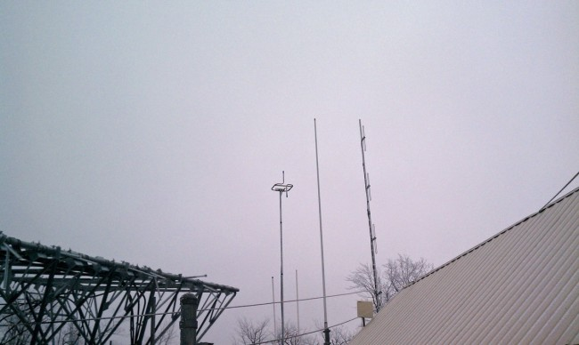 WUPE-FM temporary antenna