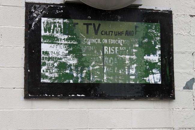 Sign outside of former WMHT transmitter building
