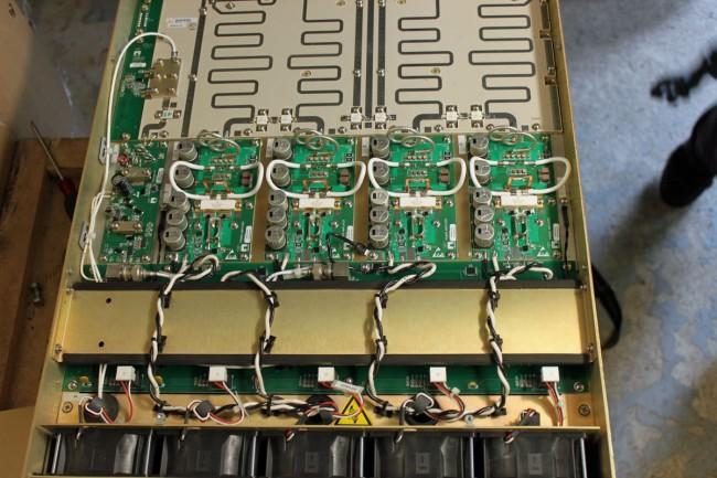 Nautel VS2.5 transmitter RF modules and combiner