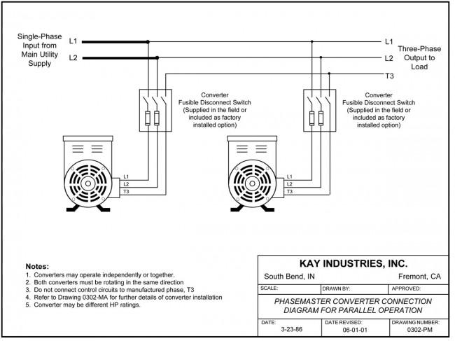 Phasemaster parallel connection diagram