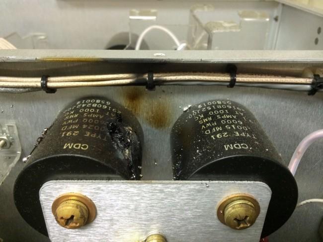 Broadcast Electronics AM5E output tuning capacitor