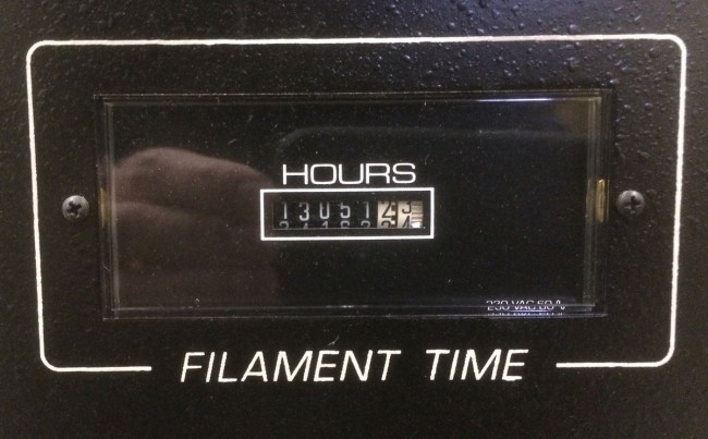 Broadcast Electronics FM20T hour meter, WYJB, Albany, New York