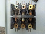 The burned contactor fingers