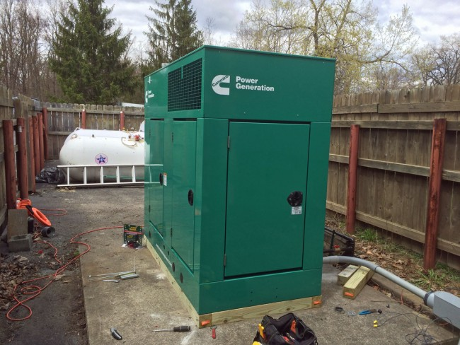 Cummins Power generator in place