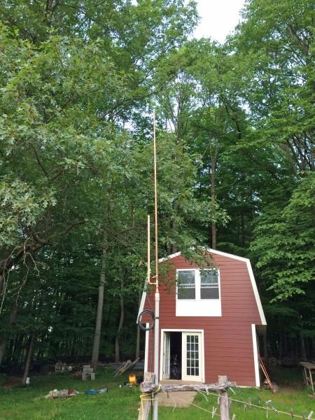 J-pole antenna on the antenna testing range