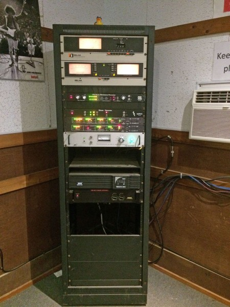 Camp Radio Station equipment rack