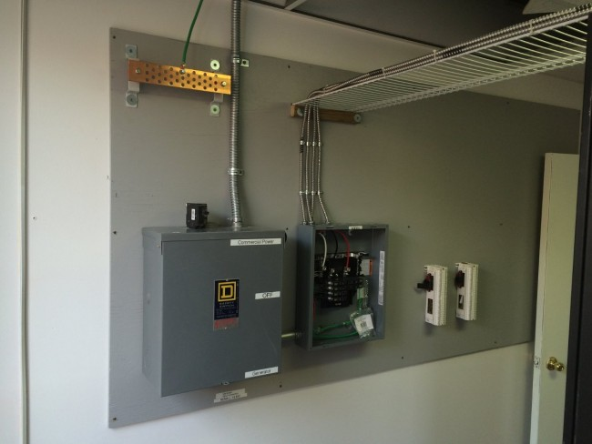 Sub Panel with manual transfer switch