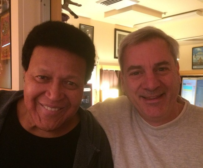 Chubby Checker and yours truly