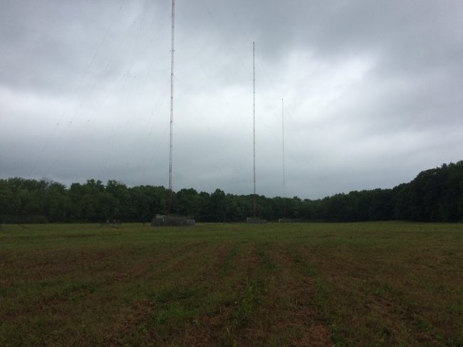 WGHQ 3 tower directional antenna array, Port Ewen, NY