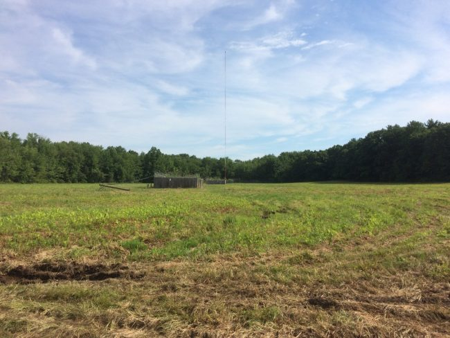 WGHQ transmitter site, towers 1 and 2 removed