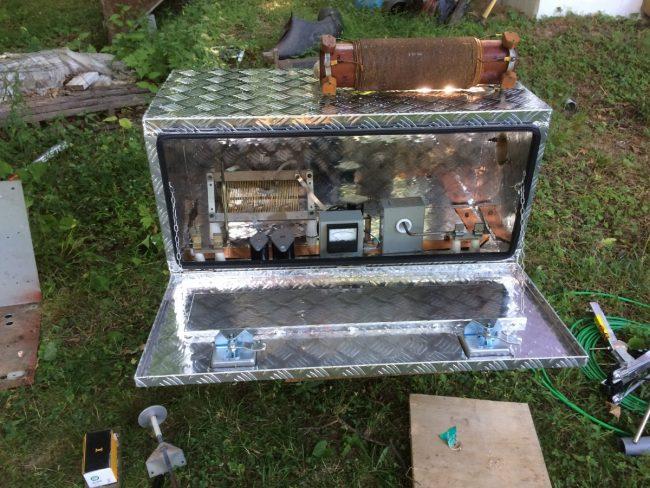 ATU built in a truck body tool box