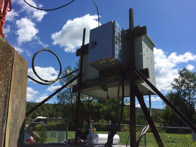 Isocoil mounted on back of ATU