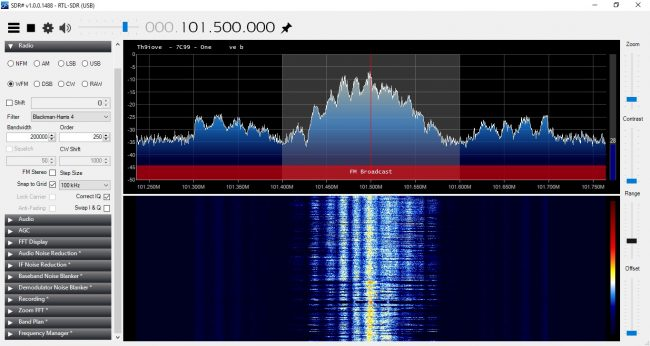 WPDH using RTL 2832U and SDR Sharp