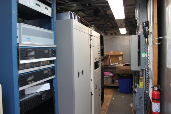 Inside view of shipping container transmitter