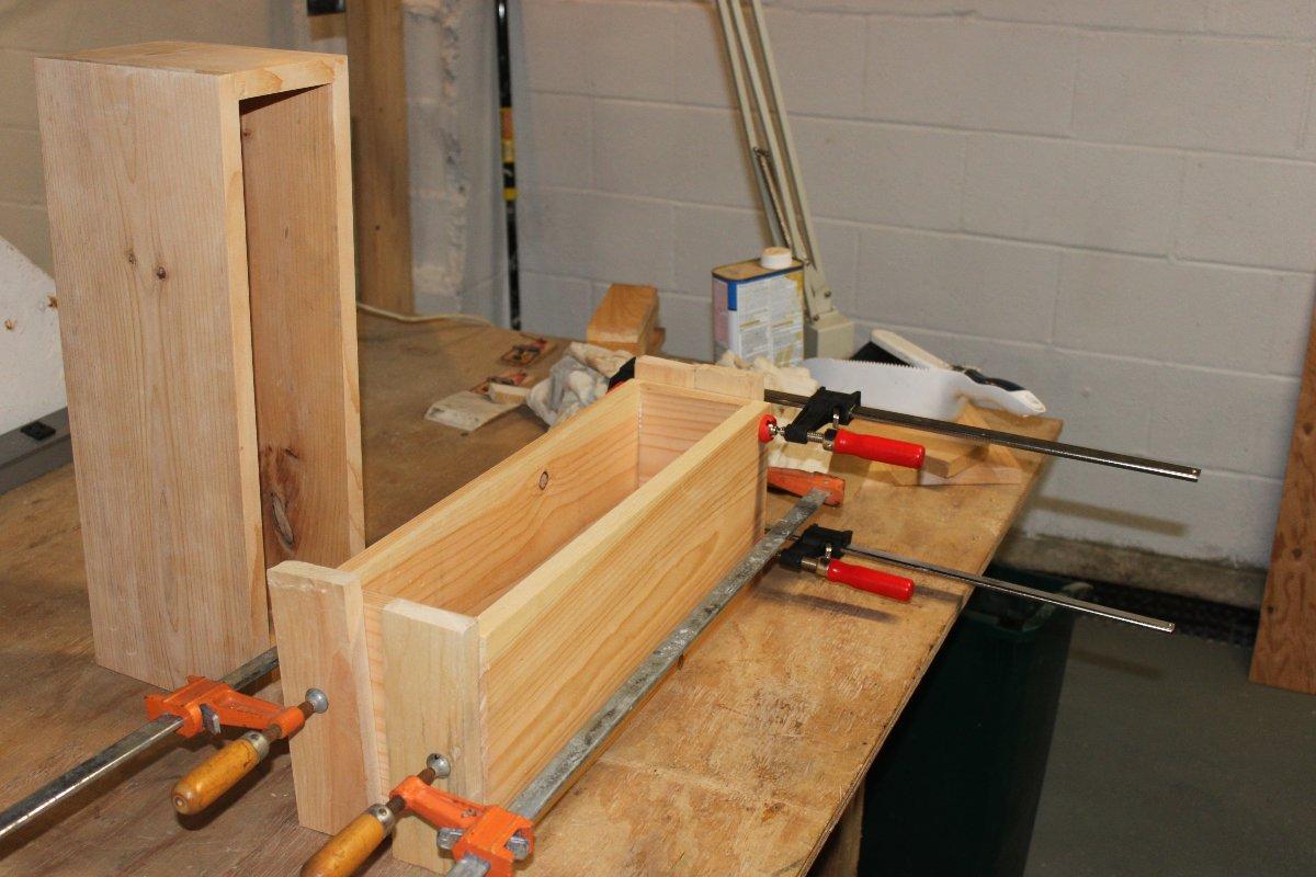 Speaker box glue up