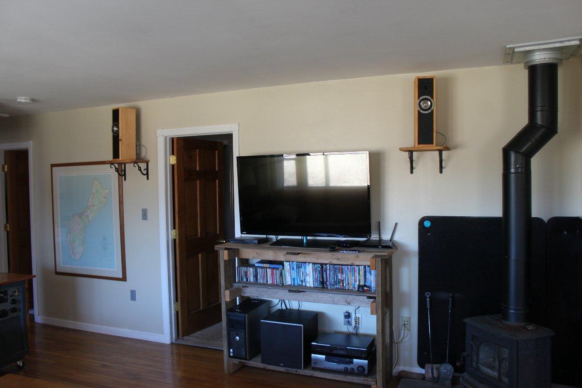 Speakers mounted