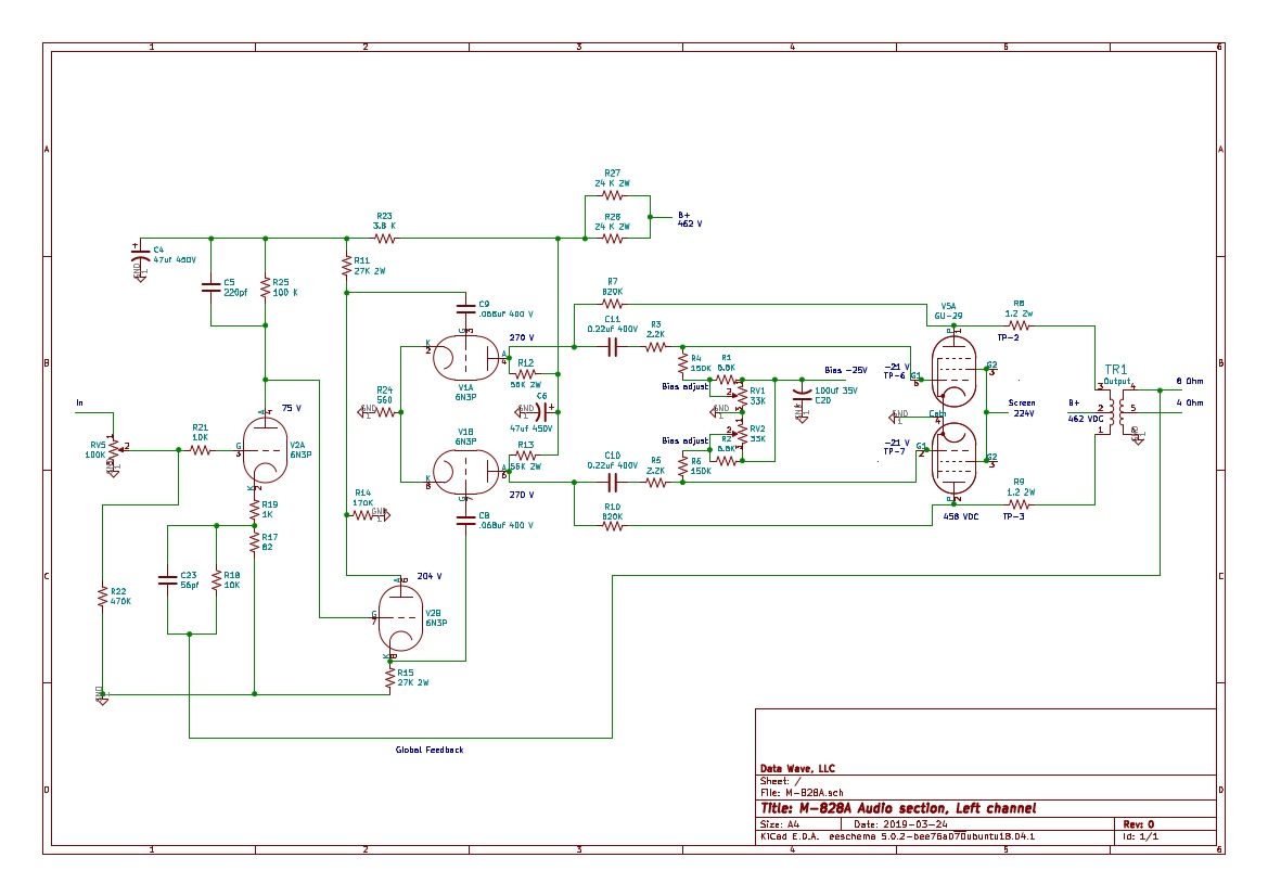 Audioromy M-828A schematic diagram
