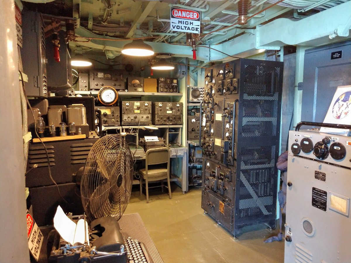 USS Slater radio room
